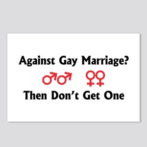 Against Gay Marriage Postcards (Package of 8)