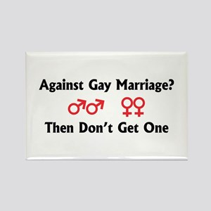 Against Gay Marriage Rectangle Magnet