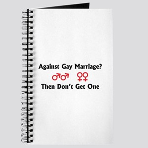 Against Gay Marriage Journal
