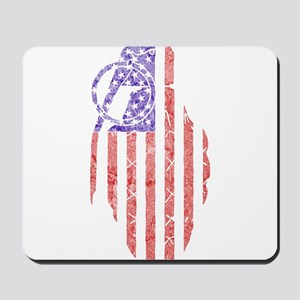 flag grenade Mousepad