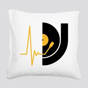 music_pulse_dj Square Canvas Pillow