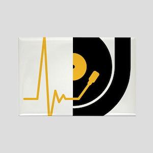 music_pulse_dj Rectangle Magnet