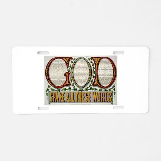 Gods Ten Commandments Aluminum License Plate