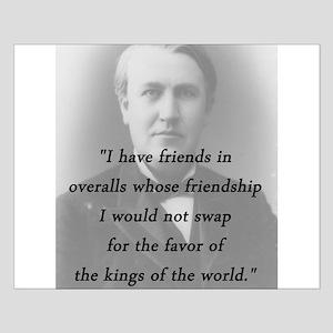 Edison - Friends In Overalls Small Poster