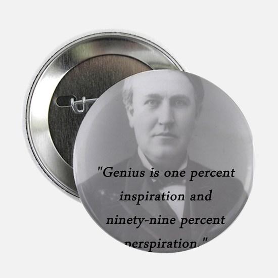 """Edison - Genius 2.25"""" Button"""
