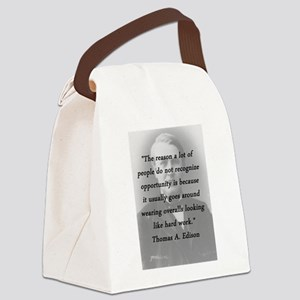Edison - Hard Work Canvas Lunch Bag