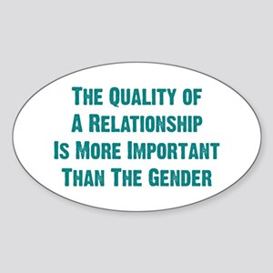 Quality Relationship Oval Sticker