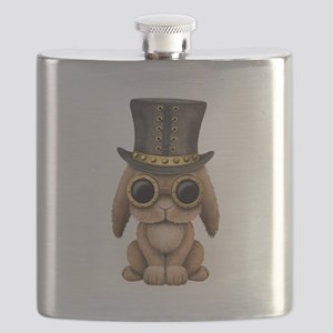 Cute Steampunk Baby Bunny Rabbit Flask