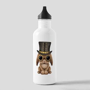 Cute Steampunk Baby Bunny Rabbit Water Bottle