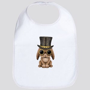 Cute Steampunk Baby Bunny Rabbit Baby Bib