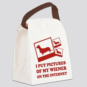 Pictures Of My Wiener On The Internet Canvas Lunch
