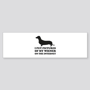 Pictures Of My Wiener On The Internet Sticker (Bum