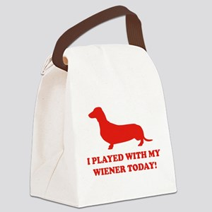 I Played With My Wiener Today Canvas Lunch Bag