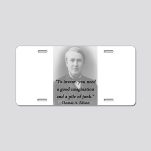 Edison - To Invent Aluminum License Plate