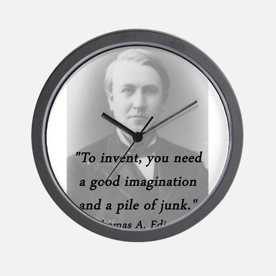 Edison - To Invent Wall Clock