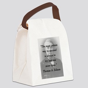 Edison - Way to Succeed Canvas Lunch Bag