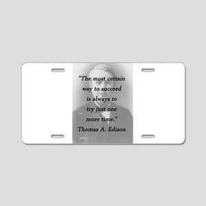 Edison - Way to Succeed Aluminum License Plate