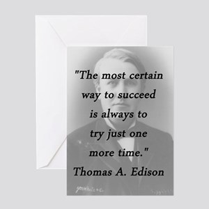 Edison - Way to Succeed Greeting Card