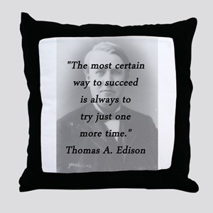 Edison - Way to Succeed Throw Pillow