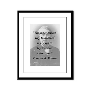 Edison - Way to Succeed Framed Panel Print