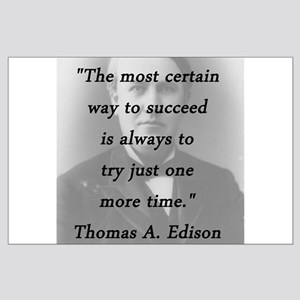 Edison - Way to Succeed Large Poster