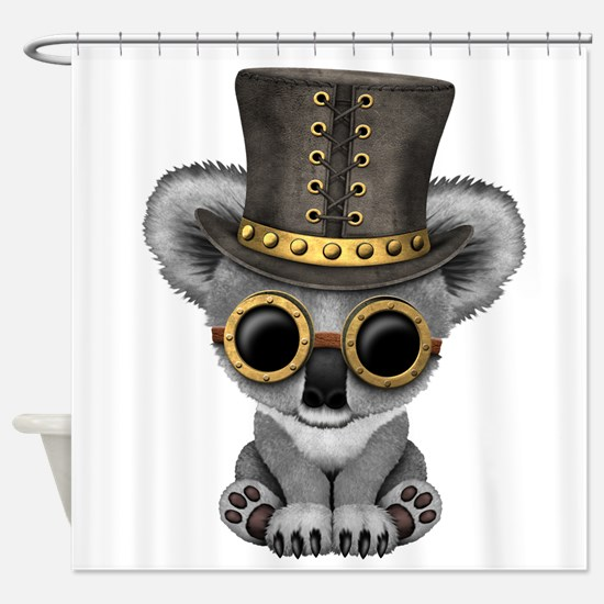Cute Steampunk Baby Koala Bear Shower Curtain