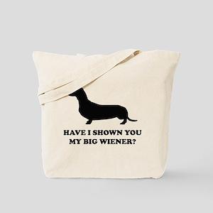 My Big Wiener Tote Bag