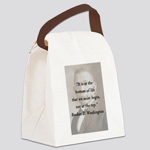 B_Washington - Bottom Of Life Canvas Lunch Bag