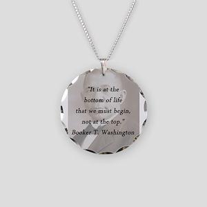 B_Washington - Bottom Of Life Necklace Circle Char