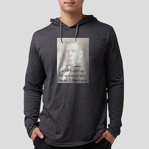 B_Washington - Lift Yourself Up Mens Hooded Shirt