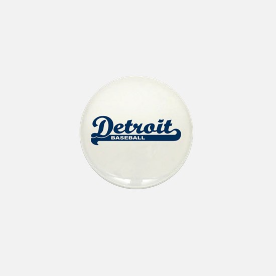 Detroit Baseball Script Mini Button