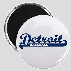 Detroit Baseball Script Magnet