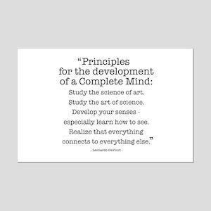 Principles by Leonardo Da Vinci Mini Poster Print