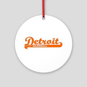 Detroit Baseball Script Ornament (Round)