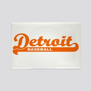 Detroit Baseball Script Rectangle Magnet