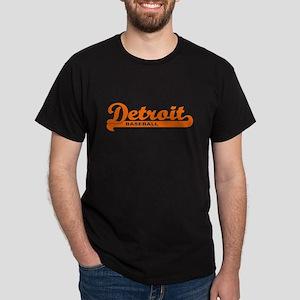 Detroit Baseball Script Dark T-Shirt