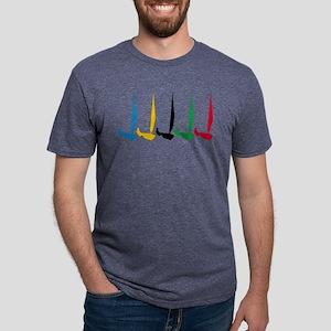 Dinghy Sailing Mens Tri-blend T-Shirt