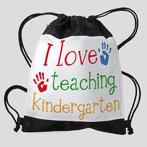 I Love Teaching Kindergarten Drawstring Bag