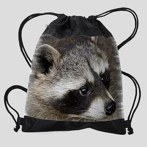 Raccoon_mpad copy Drawstring Bag