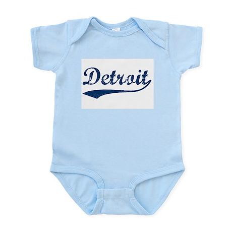 Detroit Script Distressed Infant Bodysuit