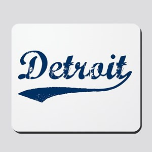 Detroit Script Distressed Mousepad