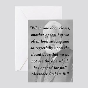 Bell - One Door Closes Greeting Card