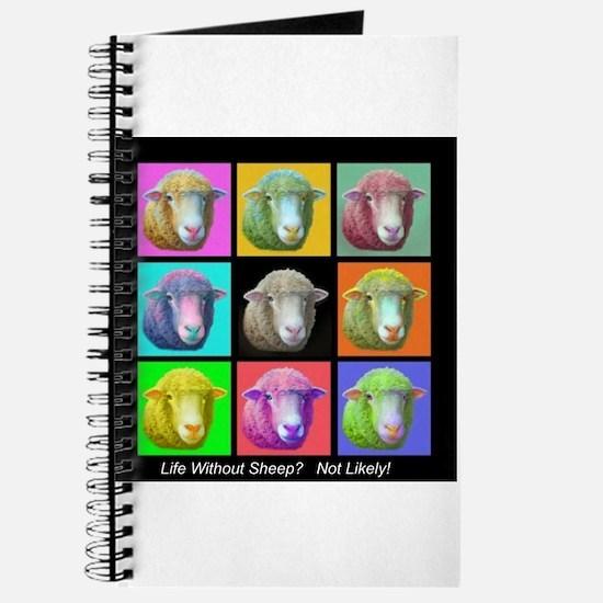 Journal with Pop Art Sheep