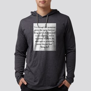 Sitting Bull - Mysterious Power Mens Hooded Shirt