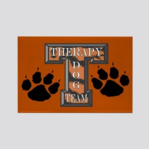Therapy Dog Team Rectangle Magnet