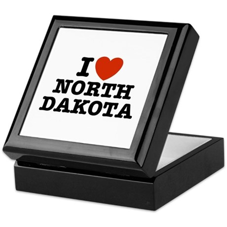 I Love North Dakota Keepsake Box