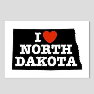 I Love North Dakota Postcards (Package of 8)