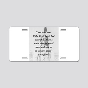 Sitting Bull - Red Man Aluminum License Plate
