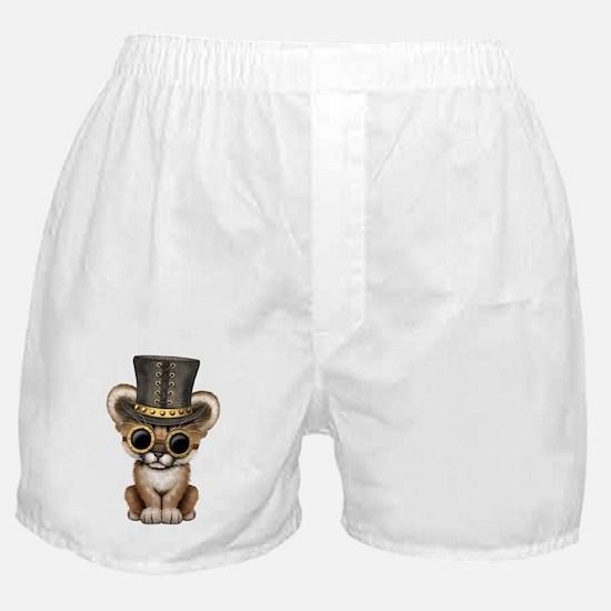 Cute Steampunk Baby Cougar Cub Boxer Shorts