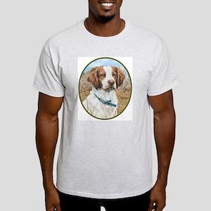 smittyts.com Brittany Spaniel Ash Grey T-Shirt